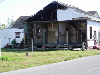 Hurricane Katrina damage. Photo: Nicole J Caruth