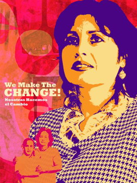 "Favianna Rodriguez, ""We Are the Change,"" digital image, 2009. Courtesy of the artist."