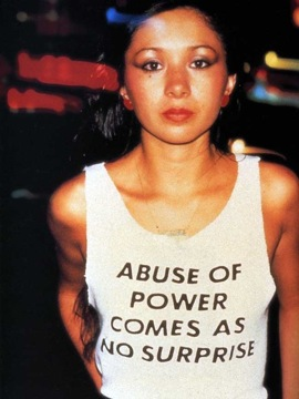 "Jenny Holzer, ""Truisms,"" 1977–79. T-shirt worn by Lady Pink, New York, 1983."