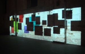 "Paul Chan, ""Sade for Sade's Sake,"" 2009. Three channel shadow projection. Courtesy VVORK (www.vvork.com)"