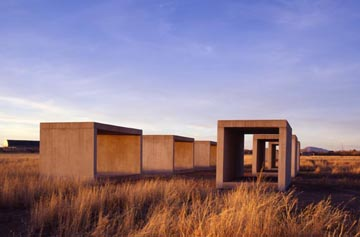 "Donald Judd, ""15 untitled works in concrete,"" 1980-1984"