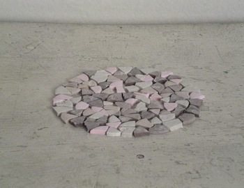 """Necco Circle (After Richard Long),"" 2010. Necco. Courtesy of the artists."