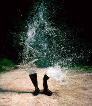 """Roman Signer, """"Water Boots"""" (1986)"""