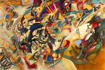Wassily Kandinsky's Composition VII, 1913. The Tretyakov Gallery, Moscow.