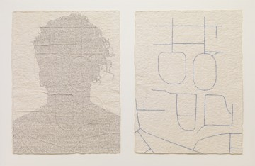 Ben Durham, Jennifer (Race St/3rd St), graphite text on handmade paper, 2009. Courtesy of the Artist and Nicole Klagsbrun Gallery, New York.
