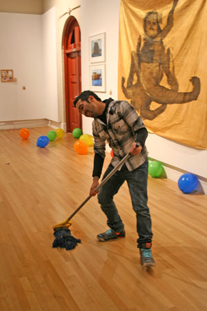 "Jeffrey Augustine Songco, ""Biennial clean up"" Courtesy the artist."