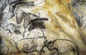32,000 year old painting in Chauvet Cave. Photo by Jean Clottes/Chauvet Cave Scientific Team.