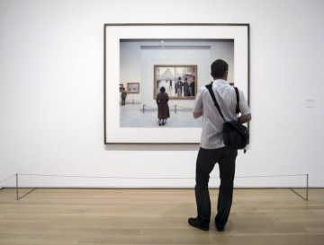 "Georgia Kotretsos, ""Being-seen-by-another is the truth of seeing the other – The Art Institute of Chicago, Modern Wing, No. 1 2010,"" archival inkjet print, 82 x 70 cm, 2011."