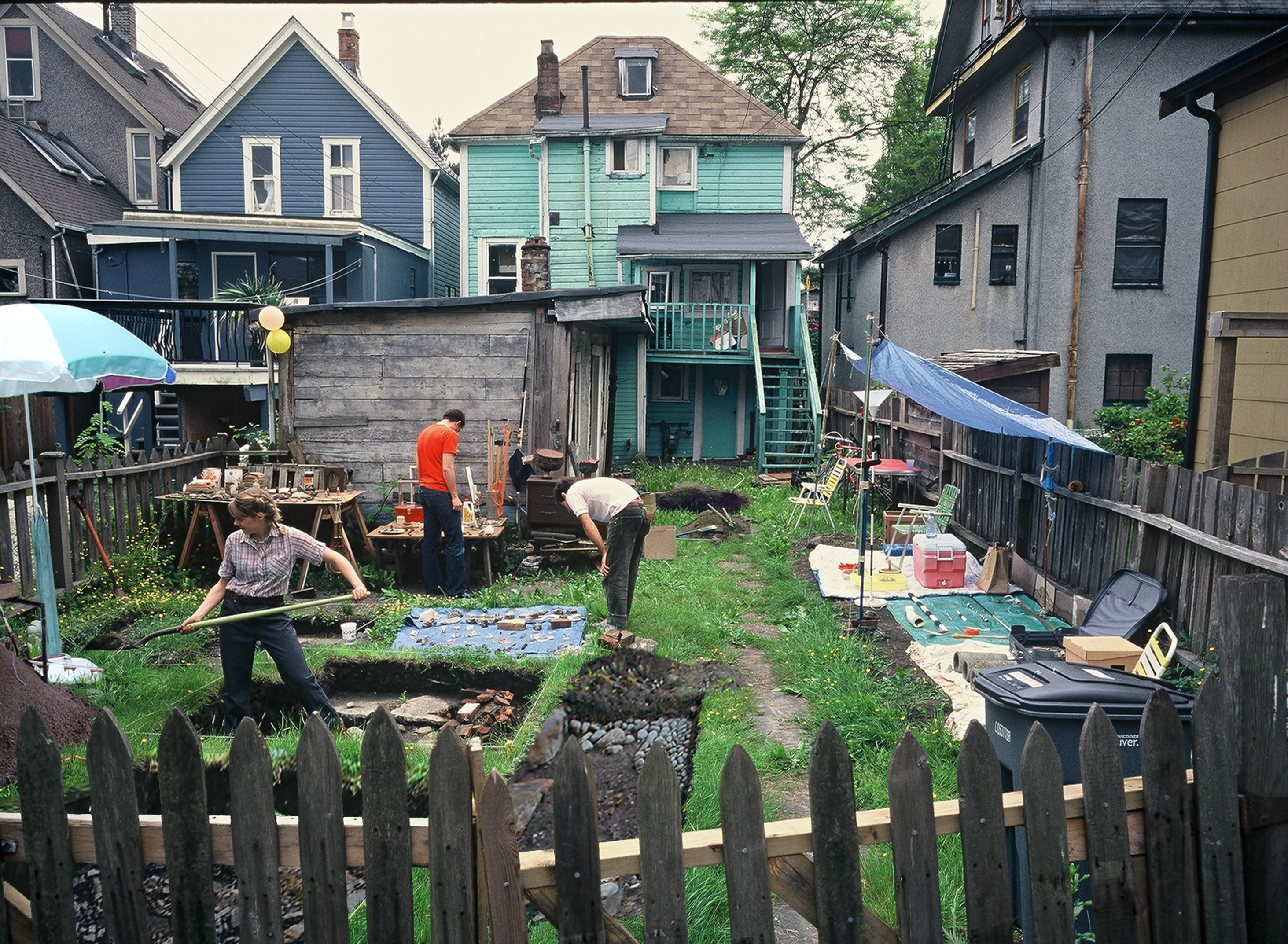 "Kara Uzelman, ""Backyard Dig,"" 2006.  Photo Jacob Gleeson, Courtesy Surrey Art Gallery."