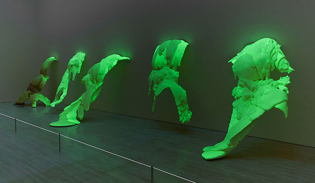 "Lynda Benglis, ""Phantom,"" 1971, Polyurethane foam with phosphorescent pigments."