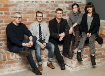 Ars Fennica Award 2011 candidates. Left to right:  Adel Abidin, Ansi Kasitonni, Pekka Abidin, Terike Haapoja, and Hannaleena Heiska.