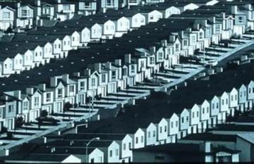 "Robert Isaacs. ""Ticky Tacky Houses in Daly City,"" 1968. Courtesy of Metropolis Magazine."