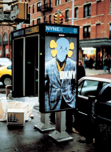 KAWS. Bus shelter poster. Image courtesy the189.com.