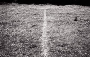 "Richard Long, ""A LIne Made By Walking"", 1967. Image: nationalgalleries.org"