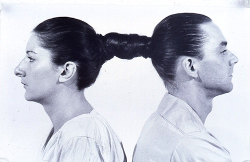 Marina Abramović and Ulay, Relation in Time, 1977. Performance Still.
