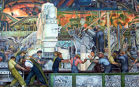 Detail: Rivera Court: Diego Rivera's Detroit Industry Fresco Paintings