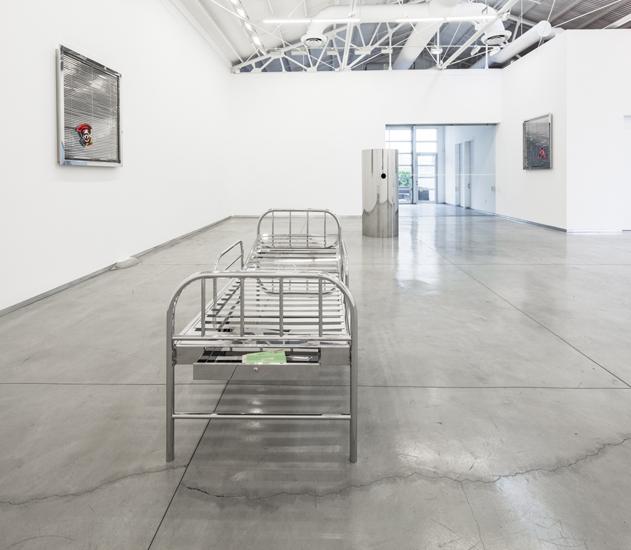 Kathryn Andrews' D.O.A./D.O.B. at David Kordansky gallery.