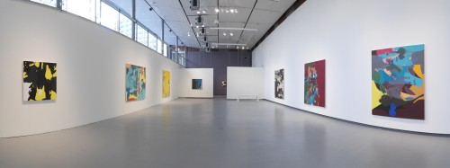 Candida Alvarez, mambomountain, panoramic installation view, courtesy of Hyde Park Art Center, photo by Tom van Eynde.