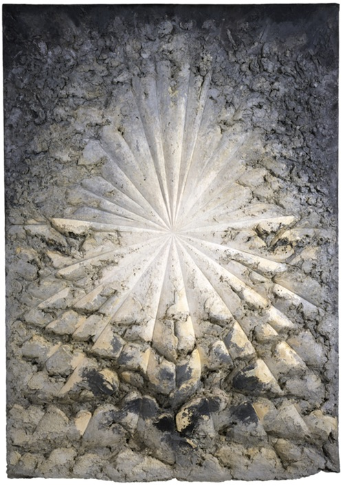 Jay Defeo The Rose, 1958–66 Oil with wood and mica on canvas, 128 7/8 x 92 1/4 x 11 in. (327.3 x 234.3 x 27.9 cm) Whitney Museum of American Art, New York; gift of The Jay DeFeo Trust, Berkeley, CA, and purchase with funds from the Contemporary Painting and Sculpture Committee and the Judith Rothschild Foundation  95.170 © 2012 The Jay DeFeo Trust / Artists Rights Society (ARS), New York Photograph by Ben Blackwell.