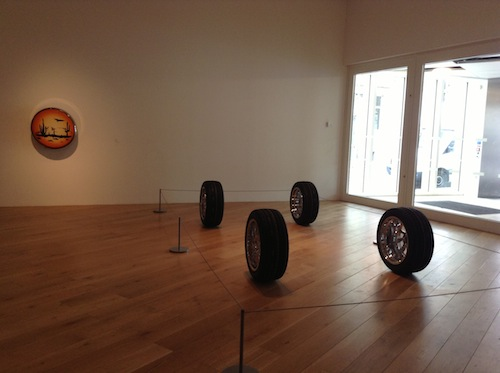 """Mark Leckey. """"The Universal Addressability of Dumb Things"""" at Nottingham Contemporary, Gallery 3, 2013. Photo: Natalie Musteata"""