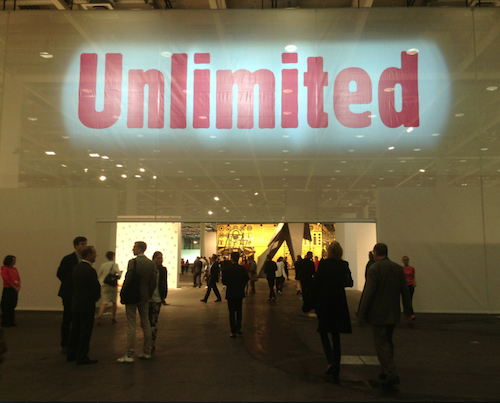 Opening night of Unlimited at Art Basel, June 2013. Photo by Natalie Musteata.