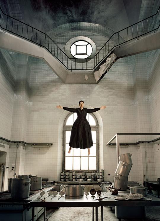 "Marina Abramović. The Kitchen I, 2009. From the series ""The Kitchen, Homage to Saint Therese."" Color Lambda print; 210 x 160 cm. Courtesy the Marina Abramović Archives and Sean Kelly Gallery, New York. © Marina Abramović"