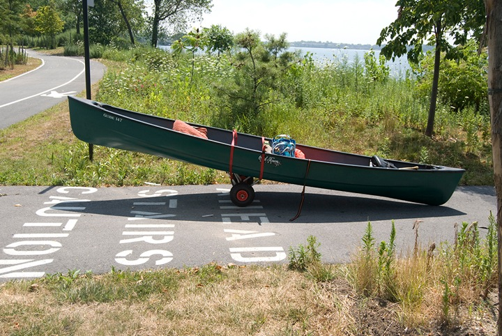 Gina Siepel, CACOPHONY, 2011. Canoe at Soundview Park, Bronx River. Photo credit: Anna Reynolds.