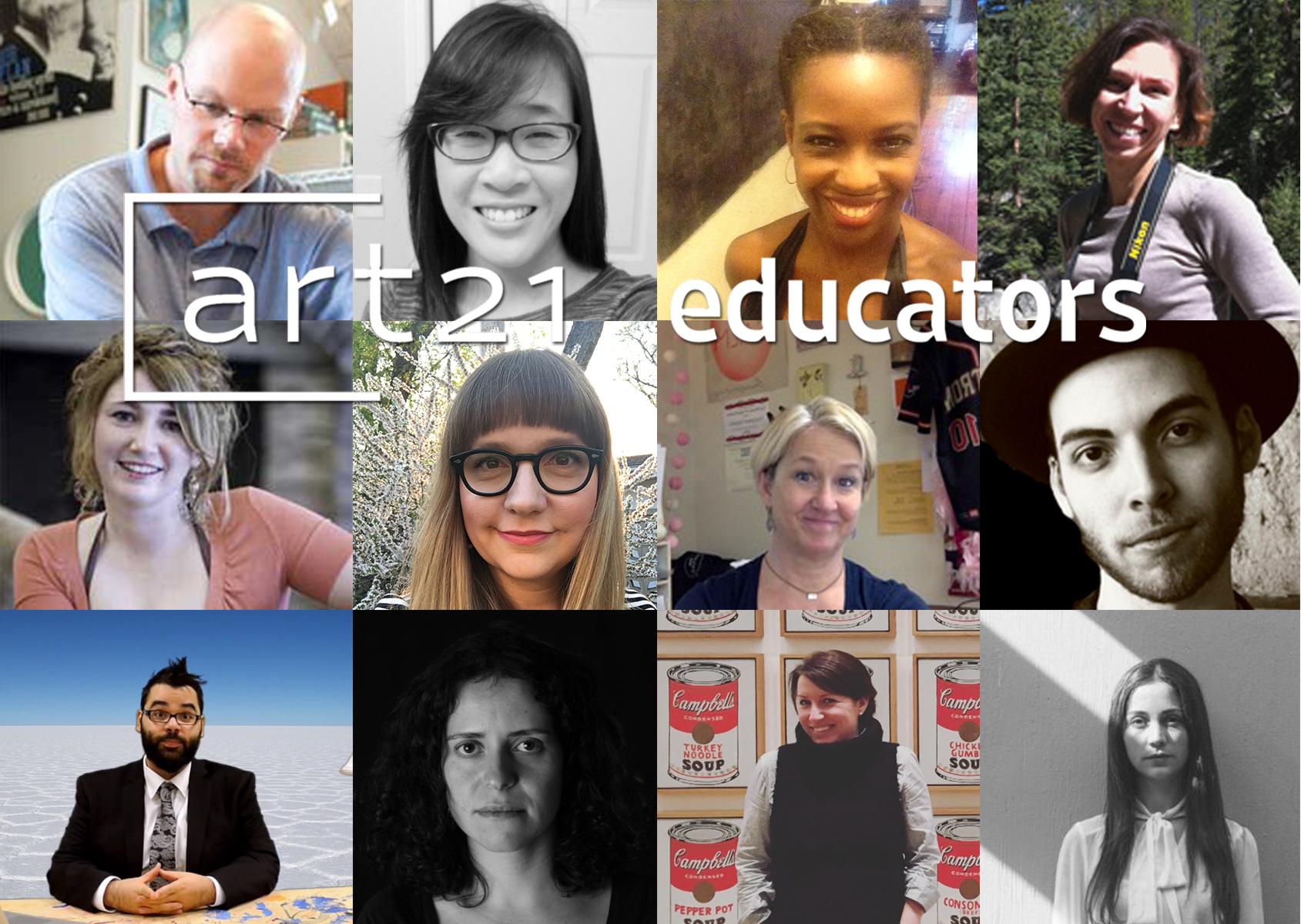 The twelve teachers selected for ART21 Educators, Year 6.