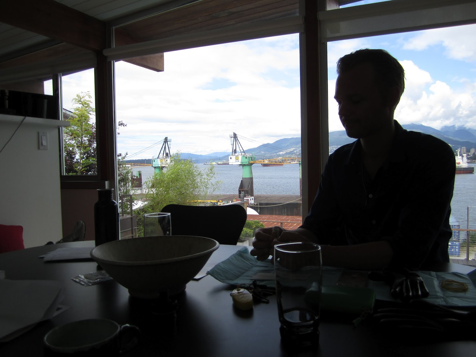 Geoffrey Farmer in his Vancouver home. Photo courtesy of the author.