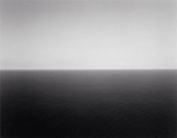 "Hiroshi Sugimoto, ""Sea of Japan/Oki II"", 1987. Gelatin silver print on paper. Courtesy Arthur M. Scakler Gallery."