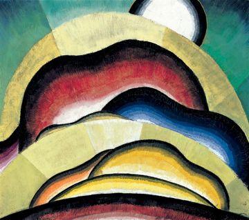 """Arthur Dove, """"Sunrise"""", 1924, oil on panel"""