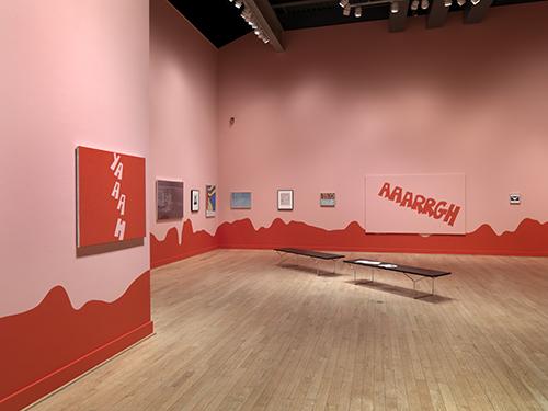 "Carl Ostendarp, ""Pulled Up,"" 2009.  Installation view."