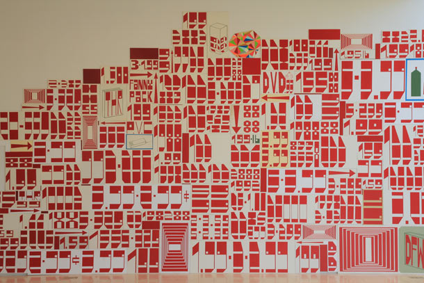 Barry McGee. Mural at Fifty Years of Bay Area Art.  Image courtesy of SFMoMA and the artist.