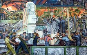 Detail: Rivera Court: Diego Rivera's Detroit Industry Fresco Paintings