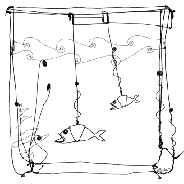 """Alexander Calder, """"Goldfish Bowl,"""" 1929, wire, private collection."""