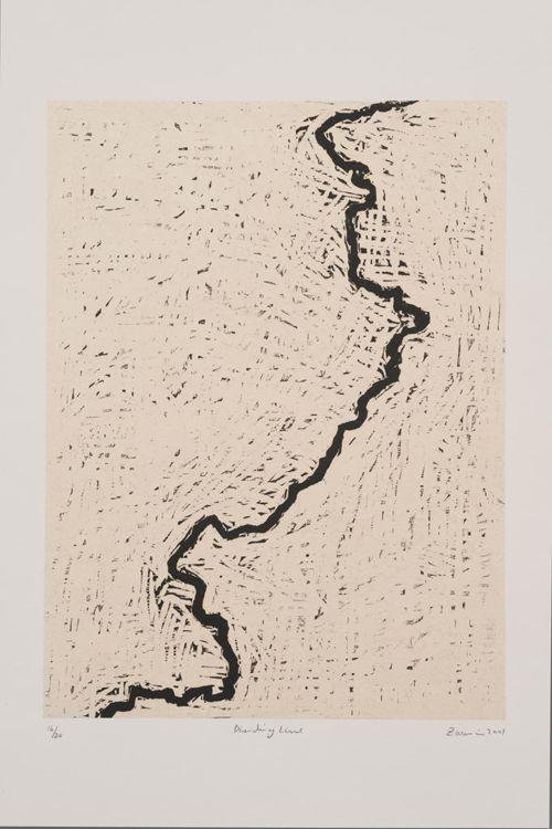 """Zarina, """"Dividing Line"""", 2001. Image: hyperallergic.com"""