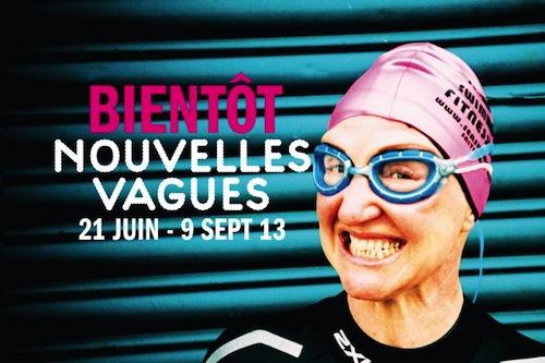 Announcement card for Palais de Tokyo's upcoming exhibition, Nouvelles Vagues.