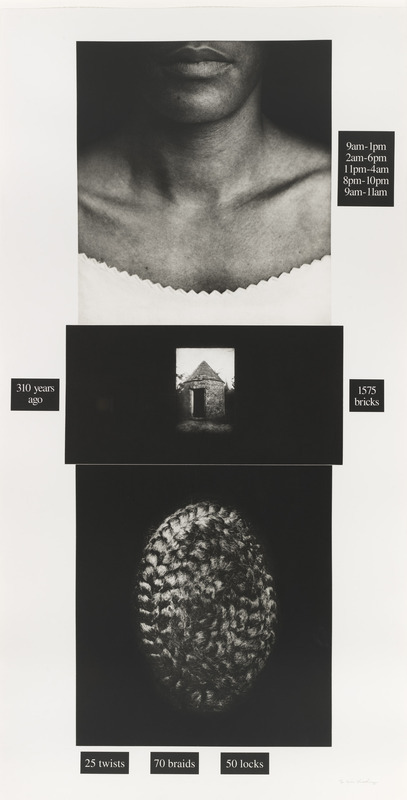 Lorna Simpson, Counting, 1991. Photogravure and screenprint: 73 3/4 × 37 7/8 in. (187.3 × 96.2 cm). Edition no. 60/60. Whitney Museum of American Art, New York; purchase with funds from the Print Committee  93.94