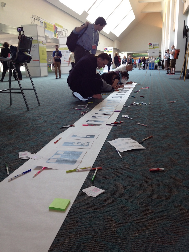 Art21 Educators at work at the 2014 NAEA conference.