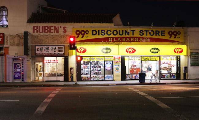 Shops on Pico Boulevard, 2015. Photo: Lex Brown.
