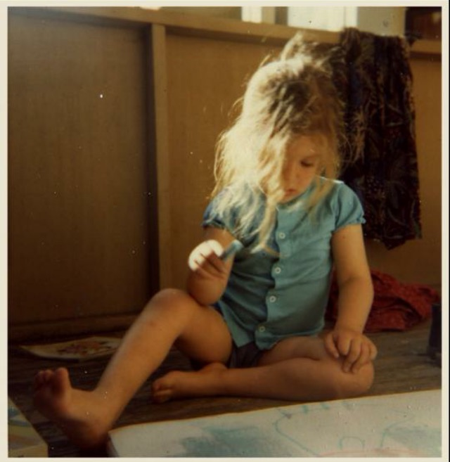 Peregrine Honig as a toddler, 1980